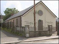 Sectarian graffiti daubed on an Orange hall