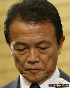 The Japanese Prime Minister Taro Aso