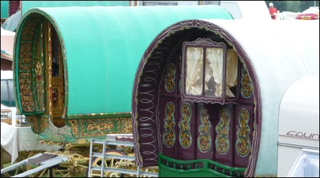 Gypsy caravans at Seamer