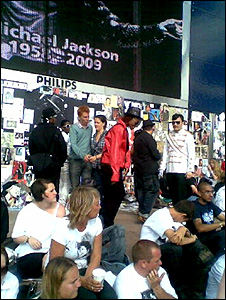 Michael Jackson fans at the O2 arenas
