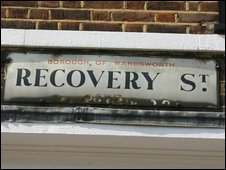 Recovery Street road sign