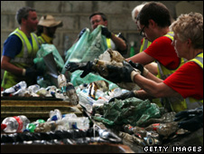 Recycling rubbish (Getty Images)