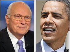 Dick Cheney and Barack Obama