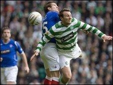 Action from Celtic v Rangers