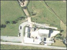 The former abattoir site at Waen