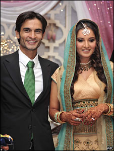 Sania Mirza with Sohrab Mirza at the engagement