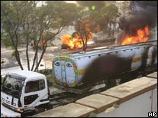 A tanker carrying fuel for Nato forces in Afghanistan was attacked by militants in Pakistan on July 13, 2009.