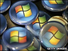 Microsoft logo on buttons