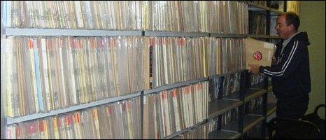 Record stacks at the I&A