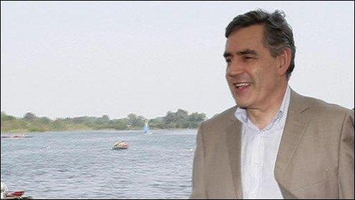 Gordon Brown holiday graphic
