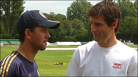 Ricky Ponting and Mark Webber
