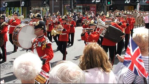 The homecoming parade in Southampton on Tuesday
