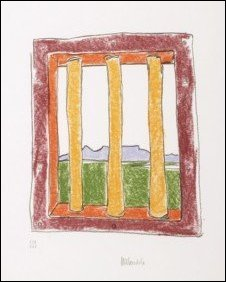 The window by Nelson Mandela (image courteousy of Belgravia Gallery)