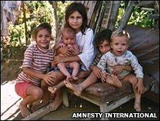 Displaced children in LA Reliquia, Villavicencio, Meta Department