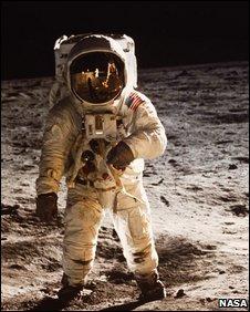 Astronaut Edward 'Buzz' Aldrin on the moon