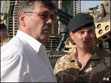 Defence Secretary Bob Ainsworth meet British troops in Afghanistan last month
