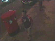 CCTV still of Mr Bessaad on the street before the attack