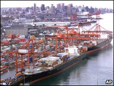Ships at dock (AP)