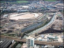 The Olympic site before construction began