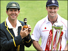 Ricky Ponting and Andrew Strauss