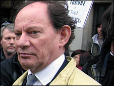Edward McMillan-Scott, pictured on a pro-Tibet demonstration in 2008