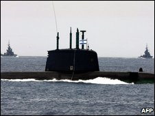 Israeli submarine in Mediterranean, 5 May, 2008
