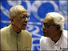 Jyoti Basu and Buddhadev Bhattacharya