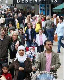 A Middle Eastern family in Oxford Street
