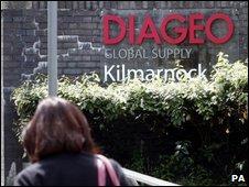Diageo factory in Kilmarnock