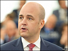 Swedish PM Fredrik Reinfeldt, 15 Jul 09