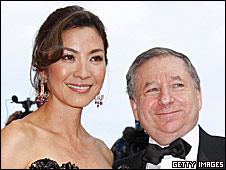 Actress Michelle Yeoh and Jean Todt