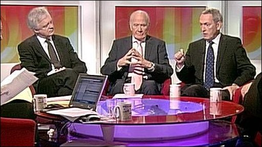 David Davis, Menzies Campbell and John Hutton