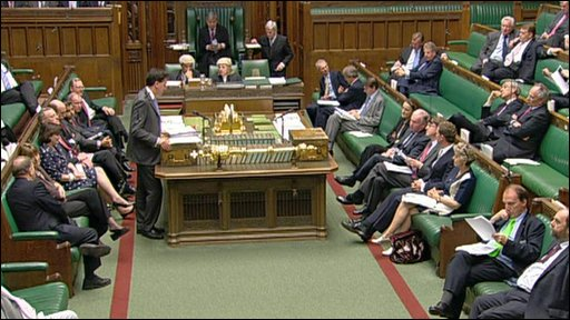 Ed Miliband speaks in the Commons
