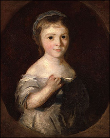 Georgina Spencer, Duchess of Devonshire ascribed to Sir Joshua Reynolds, circa 1759-1761.  National Portrait Gallery