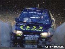 Colin McRae in his Subaru Impreza