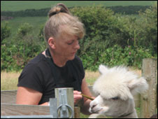 Diane Summers and alpaca