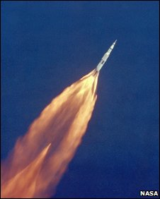 Saturn V in flight (Nasa)
