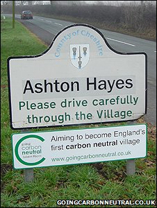 Village sign (Image: Going Carbon Neutral blog)