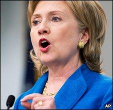 Hillary Clinton speaks in Washington on 15 July 2009