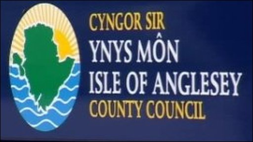 Isle of Anglesey county council sign