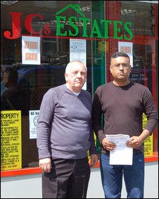 Estate agent James Smith and landlord Assan Khan