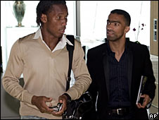 Dider Drogba and Jose Bosingwa