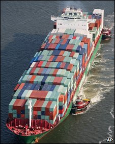 Container ship (file photo)