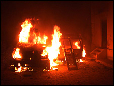 Ms Joshi's house on fire in Lucknow