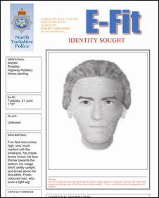 Modern E-Fit poster of Dick Turpin