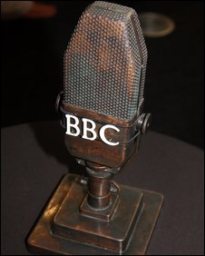 Old-fashioned BBC microphone