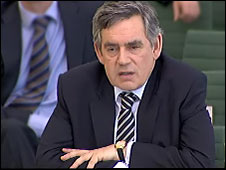 Gordon Brown facing committee