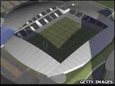 Plan of Castleford Tigers' new stadium