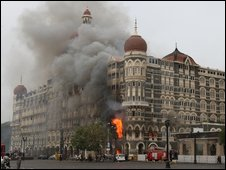 Hotels were targetted in the Mumbai attacks in November 2008.