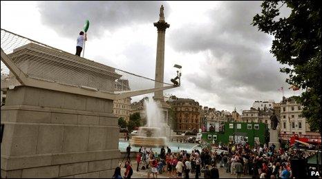 Fourth plinth in Trafalgar Square
